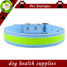 Personalized Design Reflective Dog Collar Flashing Leather Collars For Dogs Safe Walking Small Pet Products Dog