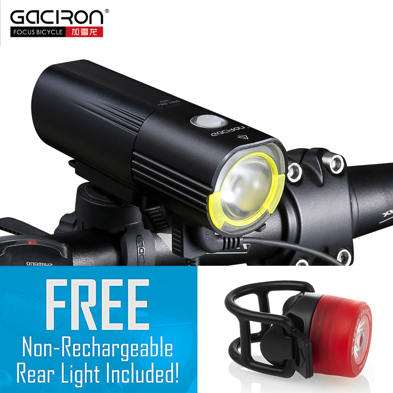 GACIRON велосипед фар Водонепроницаемый 1000 люмен MTB Велоспорт вспышки света спереди светодиодный фонарик Мощность bank велосипед аксессуары