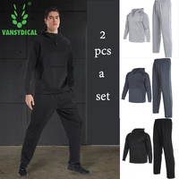 Vansydical 2018 Winter Sportswear Men S Sports Suits Fitness Running Sport Sets Breathable Training Jogging Suits