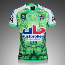 43d89c9abaf BONJEAN new NRL high quality Canberra rugby 2018 2019 home Raiders jerseys  size S-3XL