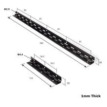 "4Pcs/Lot 6"" 15"" Black Continuous Hinge Piano Hinge Iron"