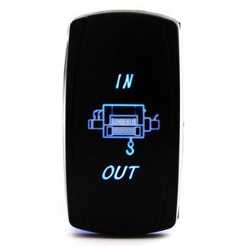 Водонепроницаемая Синяя светодиодная лебедка, клавишный переключатель для Polaris RZR 4 900 1000 XP4 акрилонитрилбутадиен-стирол