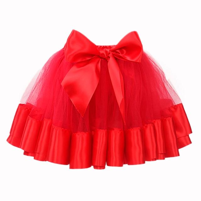 2015 Spring And Autumn New Fashion Cute Kid Girl Ribbon Bowknot Flower Princess Layer Floral Tulle Skirt High Waist Tutu Skirt