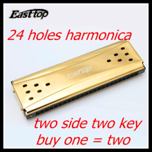 Double faced Harmonica Easttop 24 Holes Tremolo Armonica G AND C KEY Mouth Ogans Istrumento Musical Double faced Harmonica