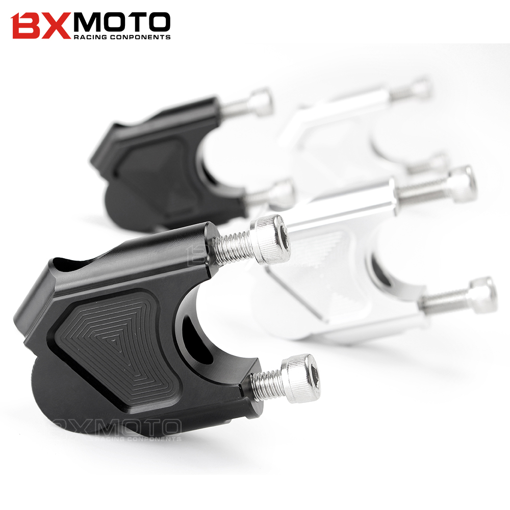 CNC Machining Handlebar Risers Bar Clamp Extend Adapter With Bolts for BMW F700GS F650GS F800GS F800R F800GT F800 GS R GT Front sliver couple kit handlebar riser handle bar clamp extend adapter for bmw r1200gs r1200 gs lc adv 2014 2015 2016