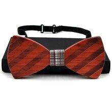 GUSLESON New Arrivel Brand Fashion Handmade Wood Bow ties Bowtie Pajaritas Gravata Ties For Men Geometric Wooden bow tie