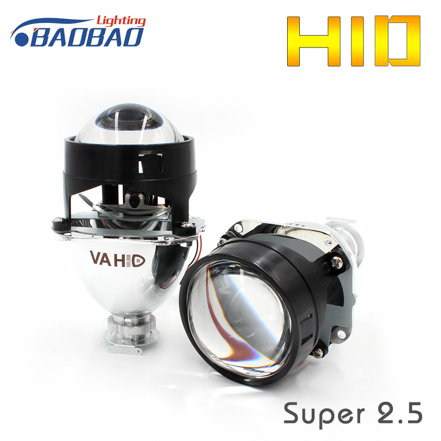 HUJO 2.5inch Car VA HID Bi-Xenon Hid Xenon Projector Lens WST Lens Use H1 Bulb Car Styling Universal Use Car HID Headlight