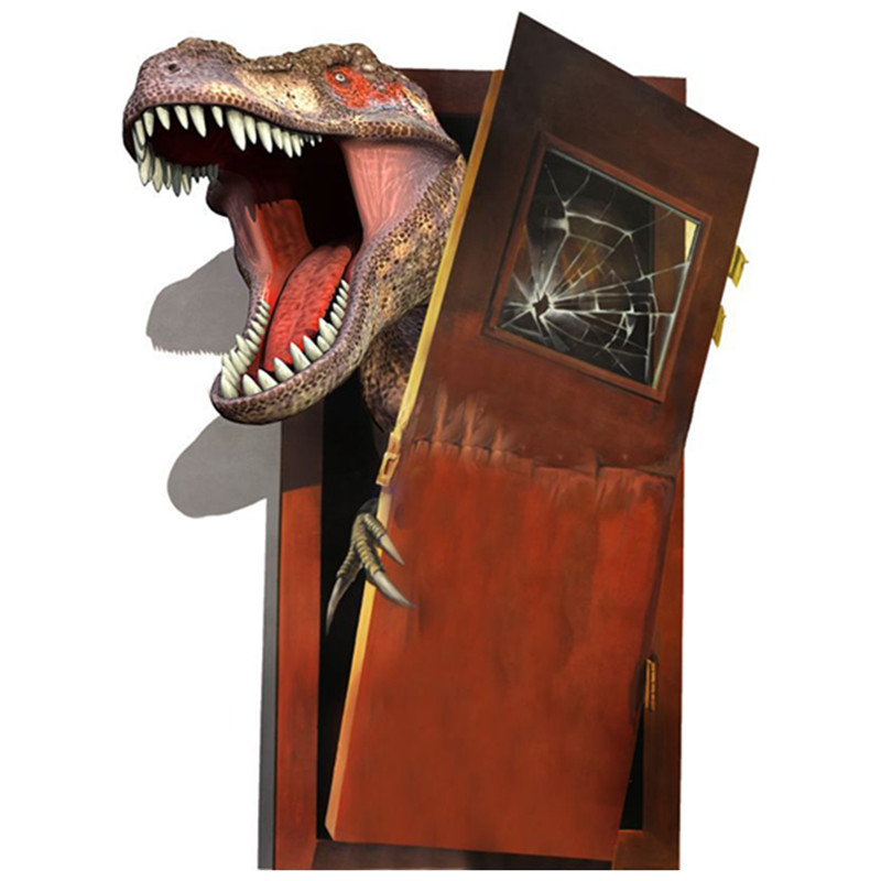 Jurassic Animal 3d Dinosaur Broken Door To Enter Kids Room