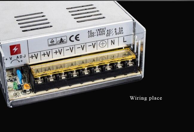 480 W 12 V 40A LED transformateur LED interrupteur alimentation pilote LED bande lumière affichage adaptateur AC110V 240V entrée 12 V livraison gratuite - 3