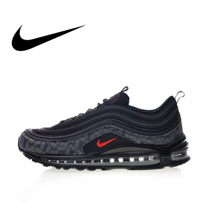 Original Authentique Nike Air Max 97 Logo Réfléchissant 2018 Chaussures de Course pour hommes Sport top Qualité Espadrilles AR4259-001