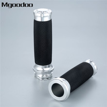 Mgoodoo 25mm 7/8 Motorcycle Handlebar Hand Grips Aluminium Rubber Lining Fit For Honda Yamaha Suzuki Kawasaki
