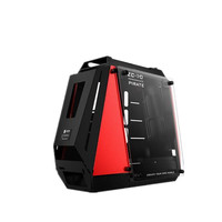 ZEAGINAL PC ATX Case Gaming Gamer Pomegranate Pirate For Water Cooling Loop Aluminum +Tempered glass ZC 10