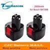 2PCS Lot High Quality Rechargeable Power Tools Battery 9 6V 2000mAh Ni CD For Bosch BAT048