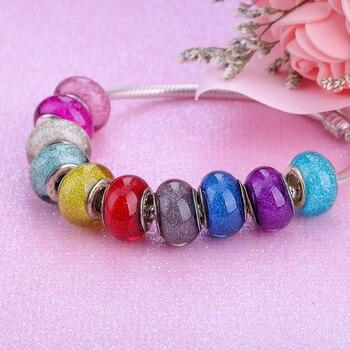 European Colorful Lampwork Glass  Murano Aolly Charm Bead Fit Pandora For Girl DIY Bracelets & Bangles 3