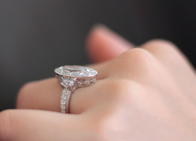 5 CTW Brilliant Cut Simulated Diamond 925 Sterling Silver Engagement Ring