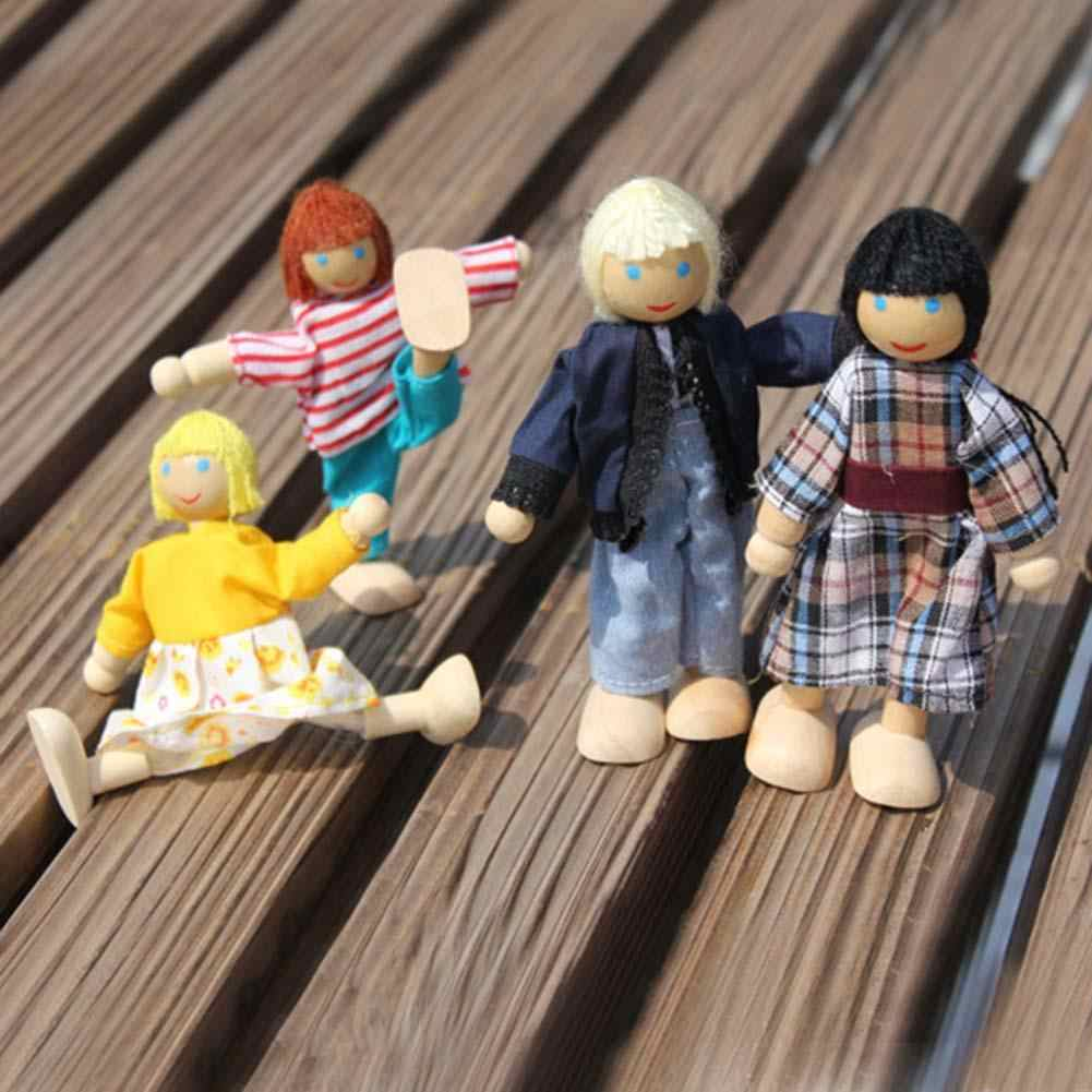 خشبي أثاث منزلي على هيئة دمي التظاهر اللعب مصغرة المطبخ السرير غرفة معيشة مطعم غرفة نوم الحمام للأطفال لعبة هدية HOT