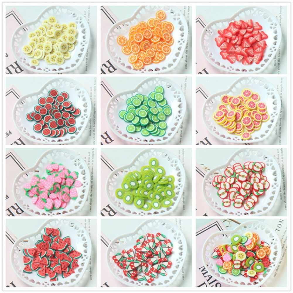 1000pcs DIY Crystal Slime Supplies Fruit Flower Animals Cake Slices Nails Art Tips Accessories Decoration Toys For Kids 10g