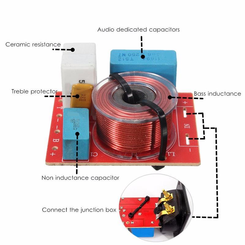 Adjustable Treble Bass Frequency Divider 2 Way Speaker Audio ...