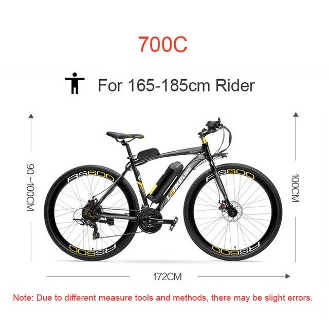 700C, 36В 20Ah Электрический дорожный велосипед, дисковый тормоз, рама из алюминиевого сплава, долговечность.