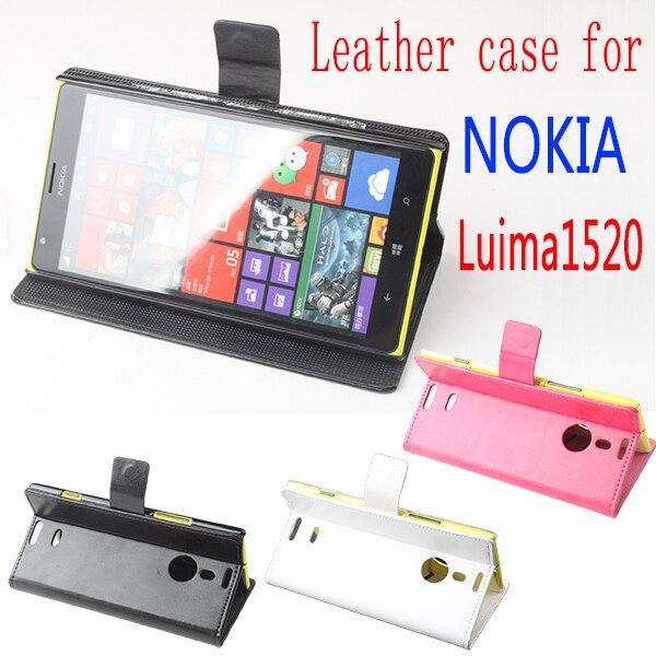 Pour Nokia Lumia 1520 housse, bonne Qualité Cas En Cuir + dur de couverture Arrière Pour Pour Nokia Lumia 1520 téléphone portable