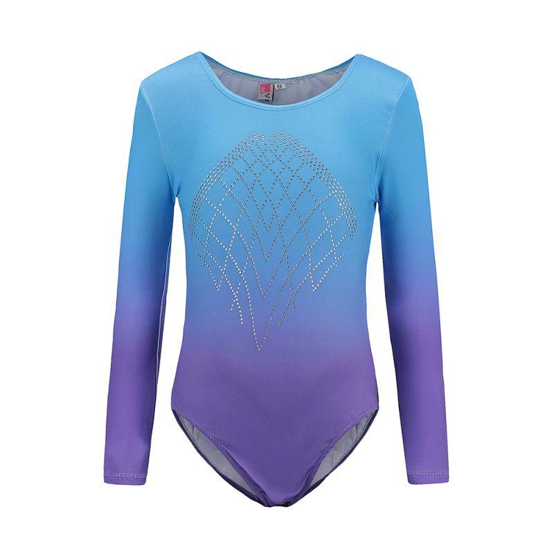 Fitness & Body Building Long Sleeve Childrens Ballet Gymnastics Suit Leotards Dance Practice Clothes Dance Clothes Girls Diamond Pattern Body Suit 8