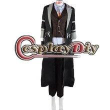 Cosplaydiy Game Tales of Berseria Eizen Costume Adult Men Halloween Carnival Cosplay Costume Custom Made
