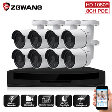 ZGWANG 8CH 1080P H.265 CCTV Surveillance Kit 2MP Security Camera System POE NVR IP Set Home