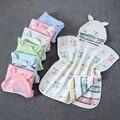 Envío Directo 60*60 cm Material de baño para bebés paño de gasa con capucha Toalla de playa Toallas suave Poncho niños algodón bebé del Cabo