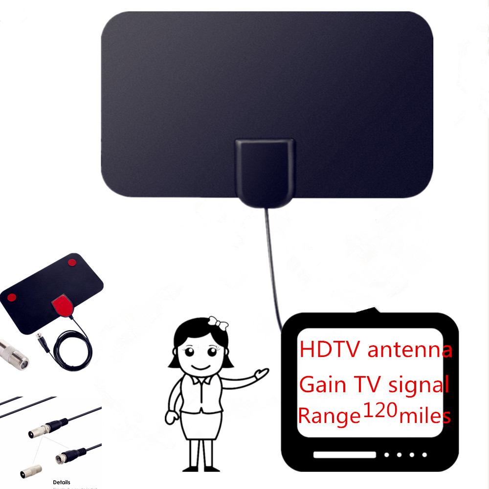 80 Miles Indoor Digital TV Antenna TV Radius TV Surf TV Fox Antena