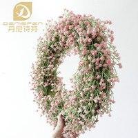Denisfen Simulación Flores Respiración Del Bebé Plástico Guirnalda Guirnaldas Decorativas de La Boda Flores Artificiales para La Decoración AW1708