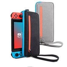 Neue NS Nintend Schalter Lagerung Tasche Schlanke Durchführung Fall Schutzhülle für Nintendo Schalter Konsole Freude Con Spiel Zubehör Handtasche