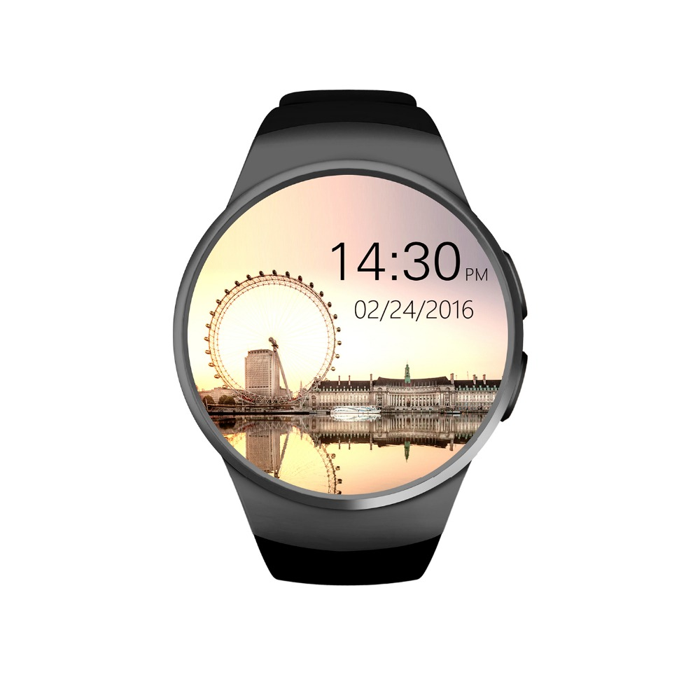 ot01 Original KW18 Full Round IPS Heart Rate Smart Watch MTK2502 BT4.0 Smartwatch for ios and Android Samsung Intelligent Watch hraefn bluetooth smart watch k88s round full view ips smartwatch heart rate monitor wristwatch for ios android support sim card