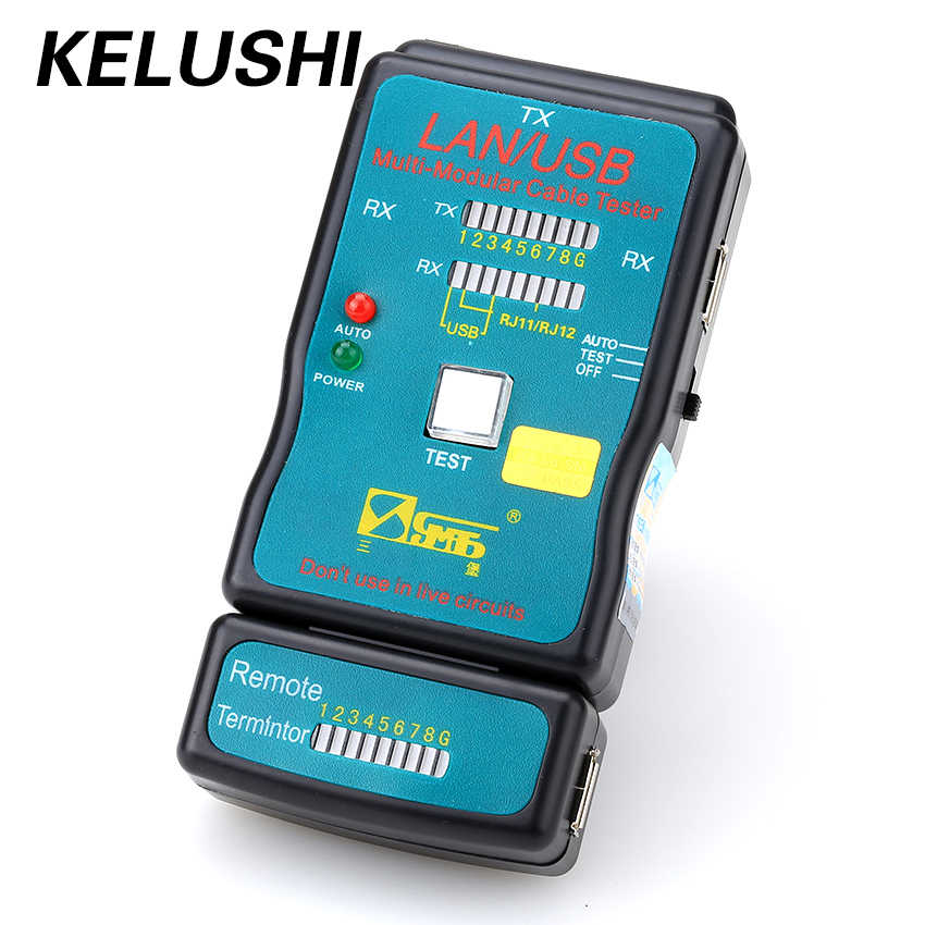 ¡KELUSHI envío gratis! CT-168 Multi-red modulares RJ45 Cat5 RJ11 Ethernet caliente Cable USB LAN Tester y Cable USB Cable de prueba