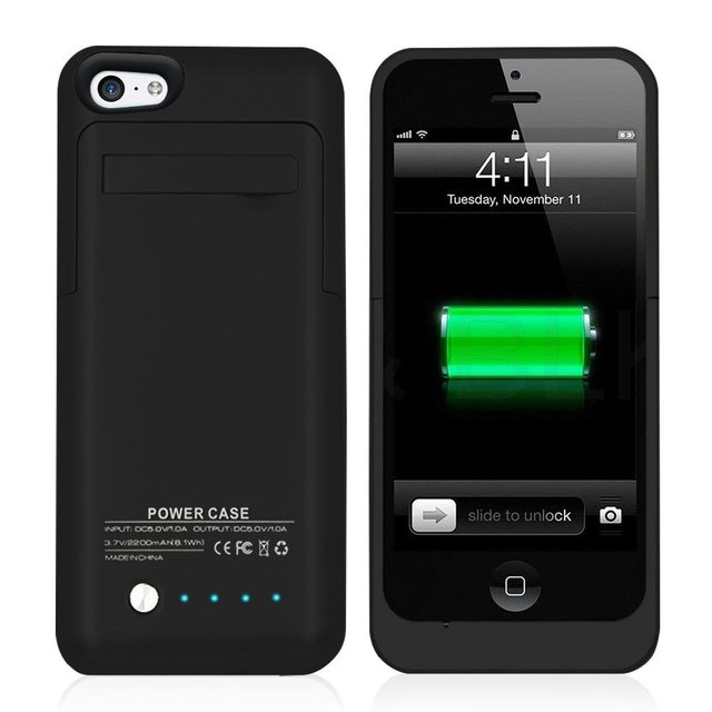 Ultra Slim External Power Bank Charger Case 2200mah For Iphone 5s
