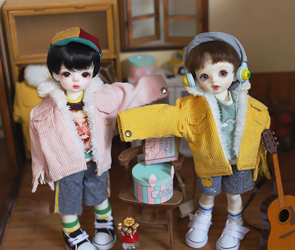 Doll coat warm fuzzy cotton-padded jacket for 1//6 1//4 BJD YOSD MSD doll clothes