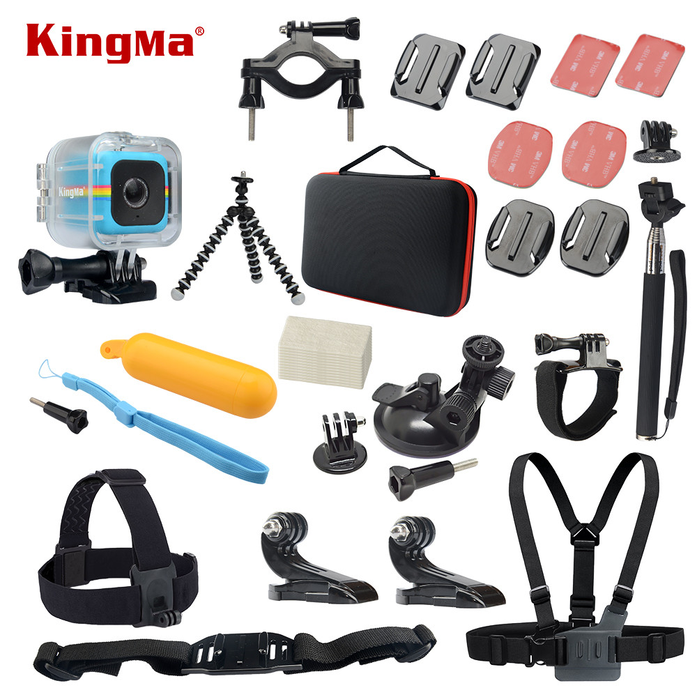KingMa Waterproof Case 14-in-1 Accessories Kit for Polaroid Cube and Cube+ цена
