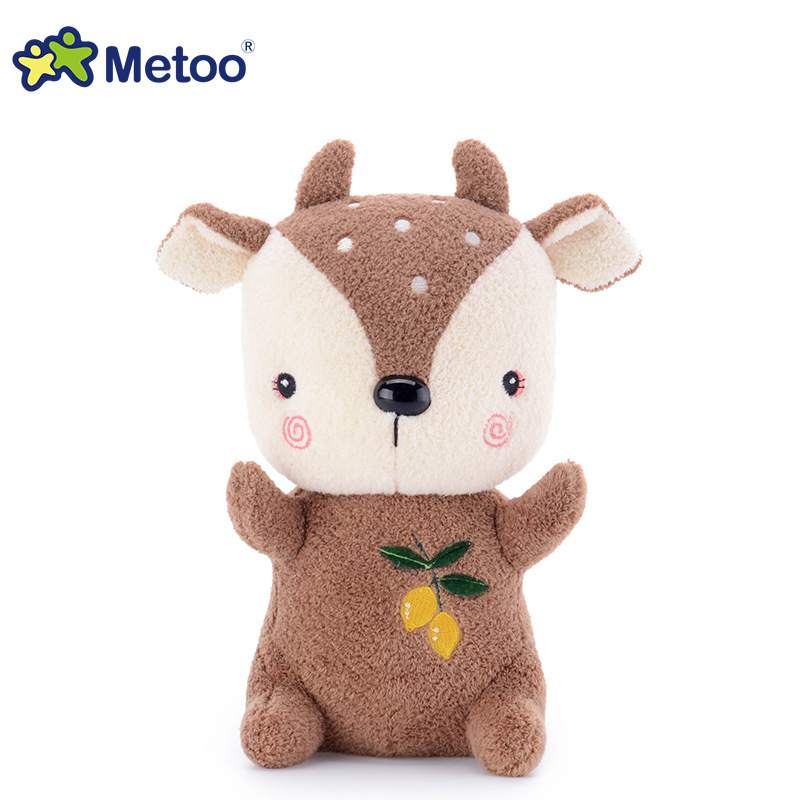 7 Inch Kawaii Plush Stuffed Animal Cartoon Kids Toys for Girls Children Baby Birthday Christmas Gift Deer Metoo Doll stuffed dog plush toys black dog sorrow looking pug puppy bulldog baby toy animal peluche for girls friends children 18 22cm