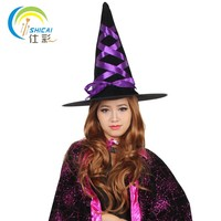 Witches Hat With Ribbon For Halloween Costume Party Activities Dress Up Christmas Cosplay For Adult And