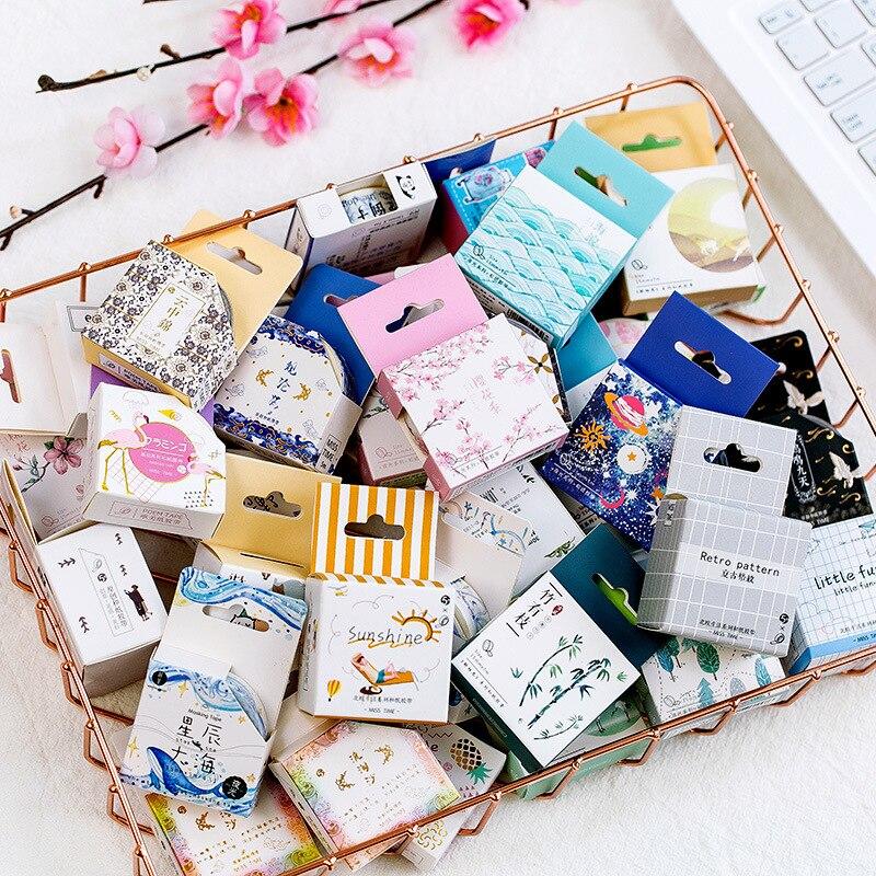 Cute Washi Tape Collection Small Fresh Retro Album Diary DIY Decorative Stickers Random Style