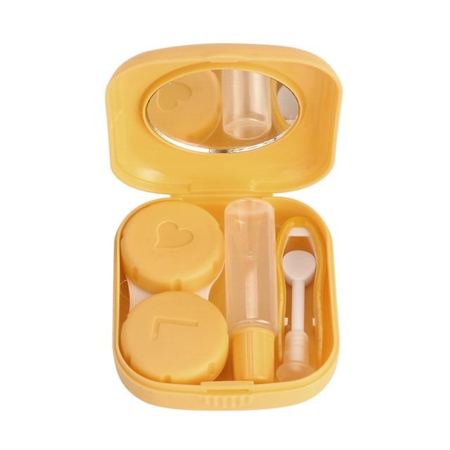 Boîte à lentilles de Contact   Mini carré, étui à lentilles, Kit de voyage, conteneur miroir facile à transporter, Estuche de gafasW5