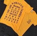 Kpop хип-хоп мужская одежда уличная фитнес мужские футболки мода 2016 Синий/Желтый/Вино/Фиолетовый yezzy я чувствую, что пабло kanye