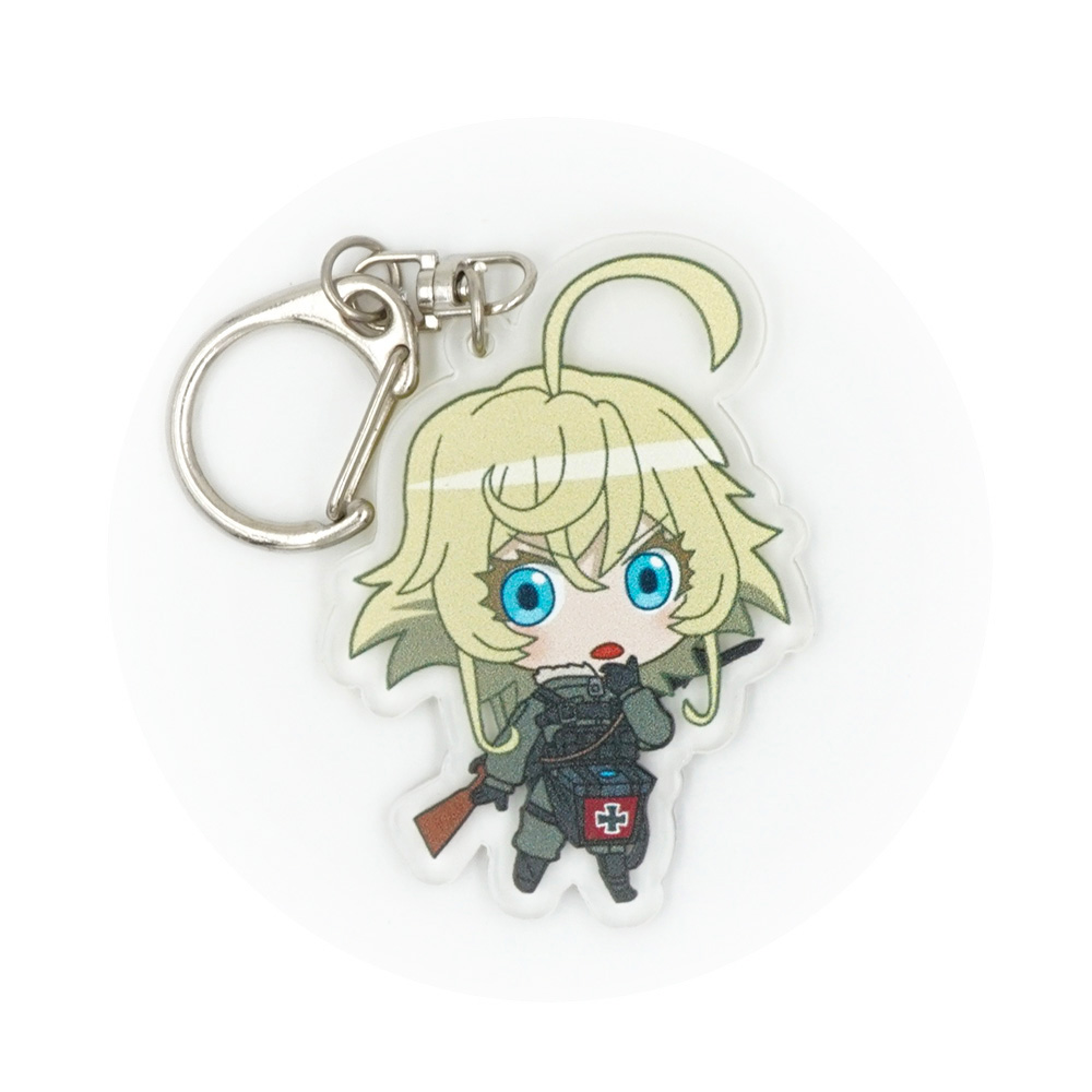 Saga of Tanya the Evil Anime Tanya Von Degurechaff Acrylic Keychain