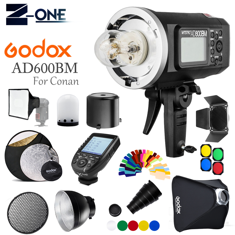 <font><b>Godox</b></font> <font><b>AD600BM</b></font> Outdoor Flash 600Ws GN87 1/8000 HSS Bowens Mount W/ XPRO-C Wireless Trigger 60*60CM Softbox For Canon Cameras image