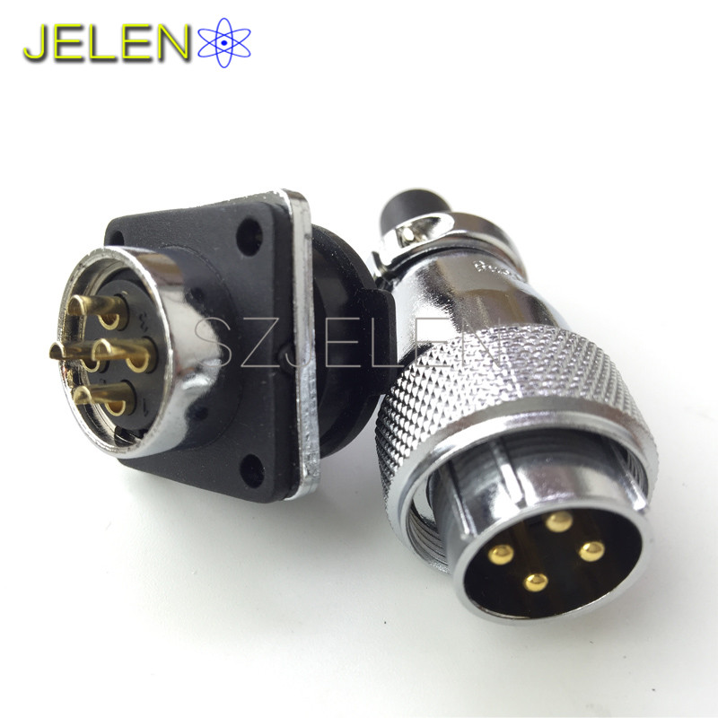 цена на WS20, power connector 4 pin plug socket, Rated current 25A, Electrical equipment power cable connector, 4 pin connectors