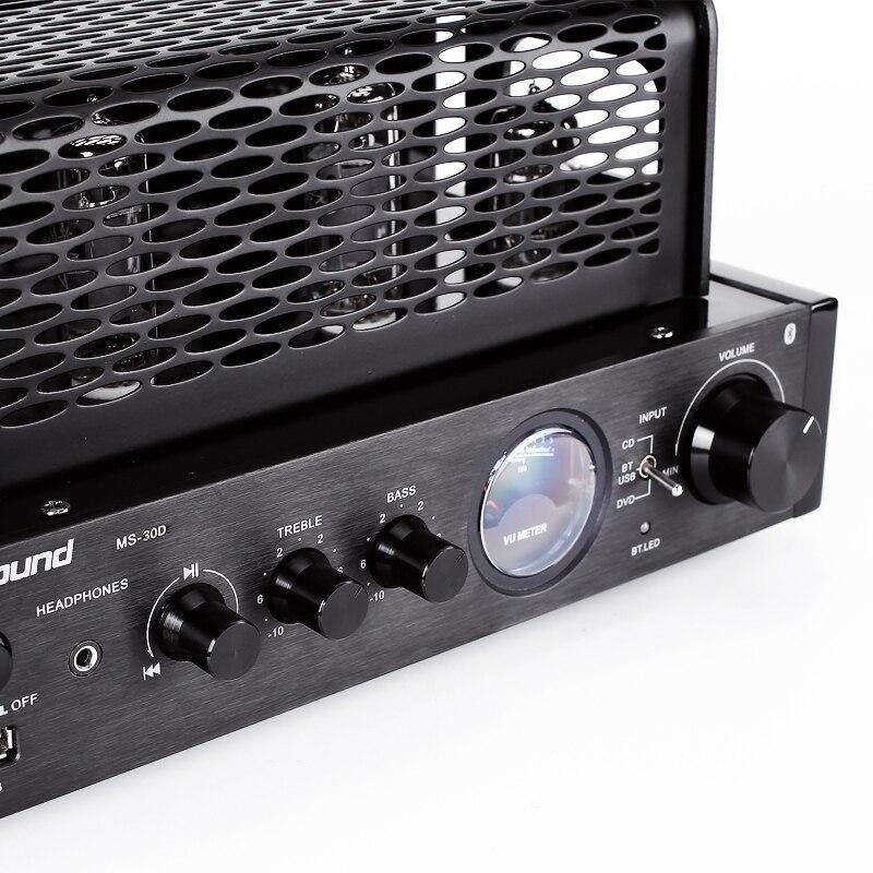 Nobsound MS 30Dll 2.0 Bluetooth puissance de sortie 25 W amplificateur à tube d'électrons HIFI Tube à vide intégré amplificateur de machine à bile USB-in Amplificateur from Electronique    2