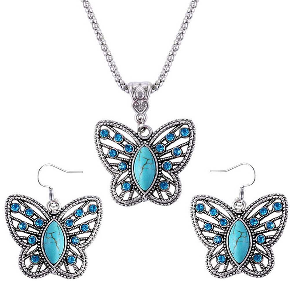 bracelet and earrings sets jewelry sets birthday gifts butterfly 6394