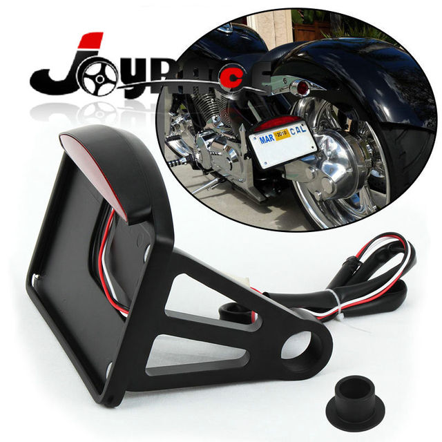 US $40 57 31% OFF Side Mount License Plate Holder LED Tail Brake Light  Taillight For Harley Davidson and Custom Bikes with 1