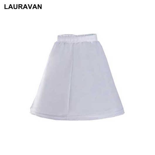 30cm אורך לבן ילדי תחתונית אונליין 1 חישוק אחד שכבה ילדים קרינולינה עבור פרח ילדה שמלת תחתוניות אלסטי מותניים
