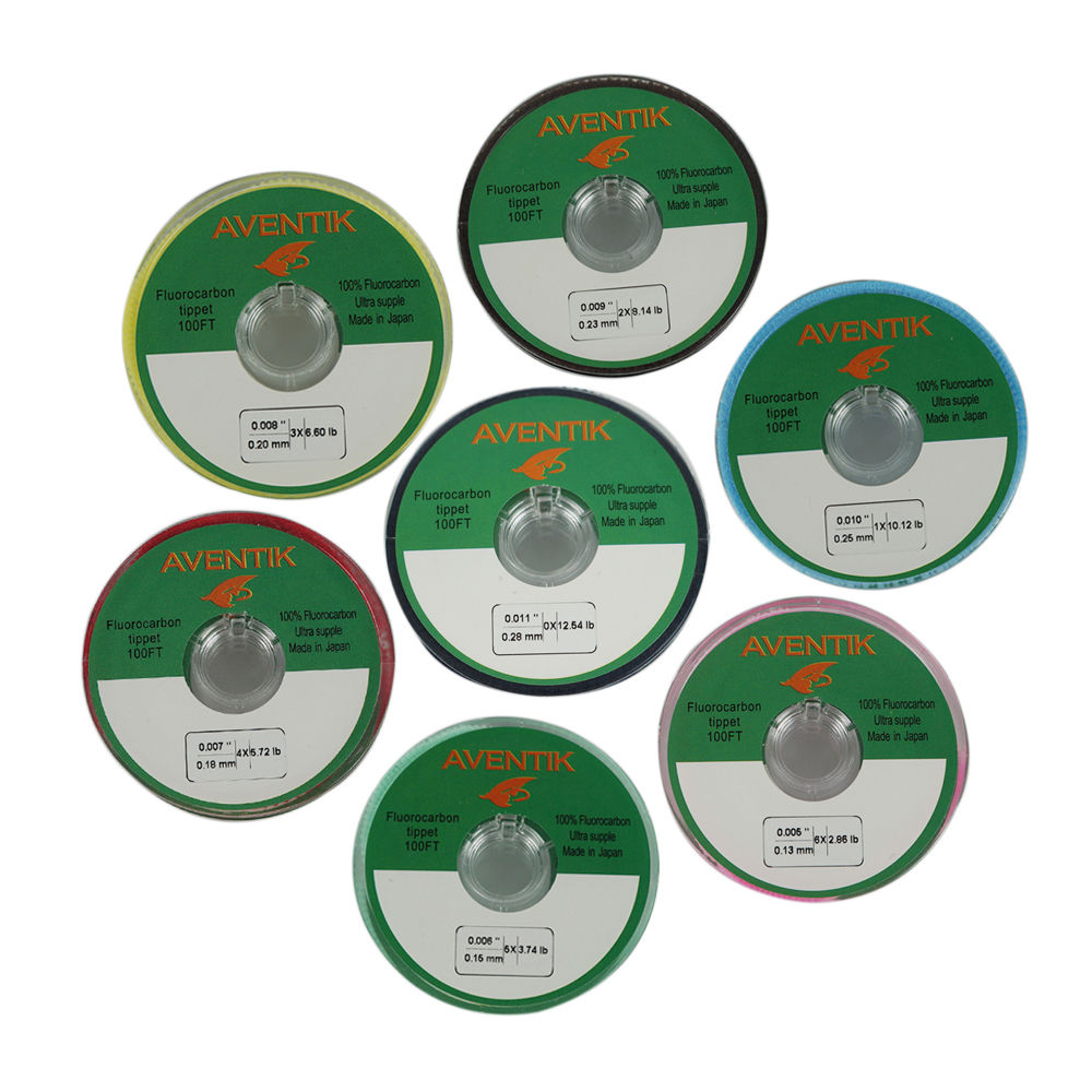 Aventik 30m/spool 100% Japan Fluorocarbon Fishing Line Tippet Fly Fishing Tippet Line