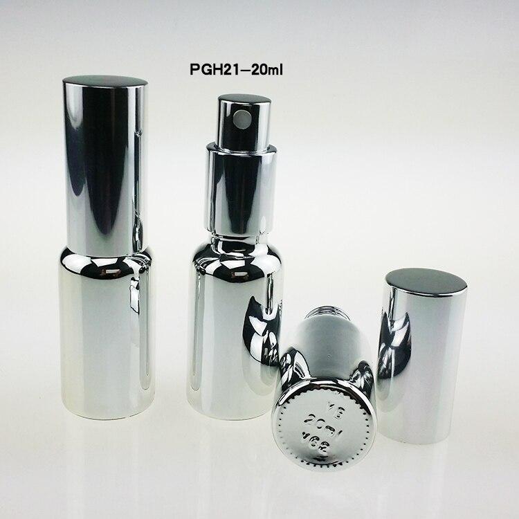 prata high grade 50 pcs 20 ml frascos de spray de perfume de vidro 20 ml